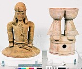 view Clay Figure (Copy) Of Man In Full Ceremonial Dress digital asset number 1