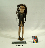 view Wooden Image Of Indian Doctor Representing The Effect Of Starvation digital asset number 1