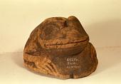 view Wooden Helmet, Old Style, Carved (Frog) digital asset number 1