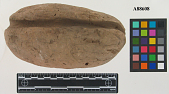 view Loaf-shaped lump of burnt clay, Grooved. digital asset number 1