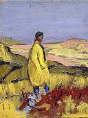 view Man Standing On Dunes/Verso: Landscape, Maine digital asset number 1