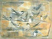 view Least Tern (Shore Bird Series)/Verso: Sketch Of Head digital asset number 1