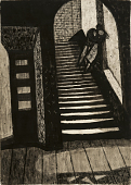 view The Stairway (Staircase) (recto); Man Leaning Against Car (verso) digital asset number 1
