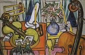 view Still Life with Cello and Bass Fiddle digital asset number 1