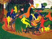 view The Indian Triumph of Bacchus (after Poussin) digital asset number 1