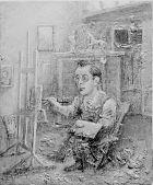 view Artist at Easel (Raphael Soyer) digital asset number 1