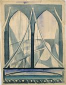 """view Study for """"New York Interpreted: The Bridge"""" digital asset number 1"""