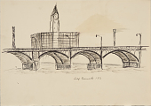 view (Untitled - Cityscape with Bridge) digital asset number 1