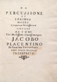 view De percussione et legibus motus corporum percussorum libellus auctore viro doctissimo clarissimoque Jacobo Placentino in Patavina Universitate Libri tertii Avicennae interprete digital asset number 1