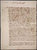 view Galileo Galilei letter to Nicolas Peiresc, 1635 May 12 digital asset number 1