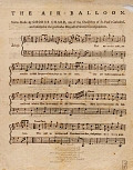 view The air balloon set to music by George Chard, one of the choiristers of St. Paul's Cathedral, and inserted at the particular request of several correspondents digital asset number 1