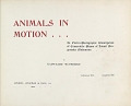 view Animals in motion : an electro-photographic investigation of consecutive phases of animal progressive movements / by Eadweard Muybridge digital asset number 1