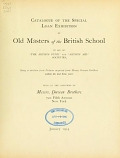 "view Catalogue of the special loan exhibition of old masters of the British school in aid of ""The artists' fund"" and ""Artists' aid"" societies; being a selection from pictures acquired from Messrs. Duveen brothers within the last three years, held at the galleries of Messrs. Duveen brothers... New York, January, 1914 digital asset number 1"