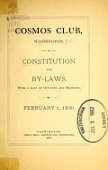 view Constitution and By-Laws, with a list of officers and members digital asset number 1
