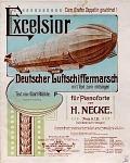 view Excelsior Deutscher Luftschiffermarsch mit Text zum mitsingen : für Pianoforte von H. Necke ; Text von Carl Rühe digital asset number 1
