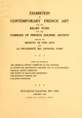 view Exhibition of contemporary French art : for the relief fund for the families of French soldier artists : Ritz-Carlton Ballroom, New York, January, 1916 / through the Ministry of Fine Arts and La Fraternité des artistes, Paris digital asset number 1