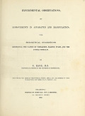 view Experimental observations, and improvements in apparatus and manipulation : with theoretical suggestions respecting the causes of tornadoes, falling stars, and the Aurora borealis / By R. Hare, M.D. professor of chemistry in the University of Pennsylvania digital asset number 1