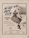 view My ole gal done flew : plantation song / words by William H. Paine ; music by Charles A. Chase digital asset number 1