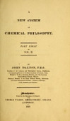 view A new system of chemical philosophy / by John Dalton digital asset number 1