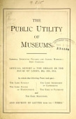 view The Public utility of museums : Imperial Institute, Victoria and Albert Museum, Kew Gardens digital asset number 1