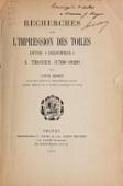 """view Recherches sur l'impression des toiles dites """"indiennes"""" a Troyes (1766-1828) / par Louis Morin digital asset number 1"""