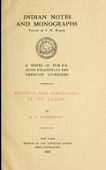 view Religion and ceremonies of the Lenape M.R. Harrington digital asset number 1
