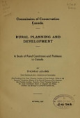 view Rural planning and development; a study of rural conditions and problems in Canada, by Thomas Adams digital asset number 1