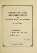 view Sketches and reminiscences from Queensland, Russia, and elsewhere / by H. Ling Roth digital asset number 1