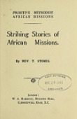 view Striking stories of African missions / by T. Stones digital asset number 1