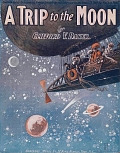 view A trip to the moon [descriptive march] by Clifford V. Baker digital asset number 1