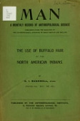 view The use of buffalo hair by the North American Indians / by D.I. Bushnell digital asset number 1