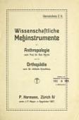 view Wissenschaftliche Messinstrumente für Anthropologie nach Prof. Dr. Rud. Martin und für Orthopädie nach Dr. Wilhelm Schulthess digital asset number 1