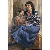 view Mujer y nino o Figuras o Retrato de Germaine y Antonio digital asset number 1