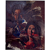 view Miracle Painting: Self Portrait with Wife, Dollie digital asset number 1
