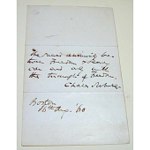 view Document written and signed by Charles Sumner digital asset number 1