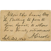 view Abraham Lincoln's autograph digital asset number 1