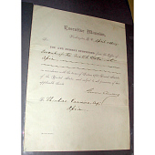 view Grover Cleveland's autograph digital asset number 1