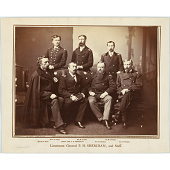 view Philip Henry Sheridan, George Armstrong Custer, George A. Forsythe, Morris Joseph Asch, Nelson B. Sweitzer, Michael Vincent Sheridan and James Forsyth digital asset number 1