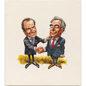 view Richard Nixon and Leonid Brezhnev digital asset number 1