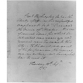 "view Letter from George Washington to Mrs. Penn regarding ""The Vision of Columbus"" digital asset number 1"