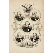 view Andrew Johnson, Salmon P. Chase, William Henry Seward, Edwin M. Stanton and Gideon Welles digital asset number 1