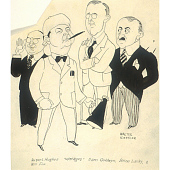 view Samuel Goldwyn, Rupert Hughes, Jesse Louis Lasky, and William Fox digital asset number 1