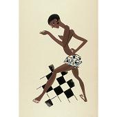 view Le Tumulte Noir/Woman Dancer on Checkerboard digital asset number 1
