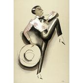 view Le Tumulte Noir/Dancing Woman with Large Hat digital asset number 1