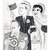 "view Claudette Colbert, George M. Cohan and Jimmy Durante in ""The Phantom President"" digital asset number 1"