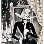 "view Greta Garbo in ""Queen Christina"" digital asset number 1"