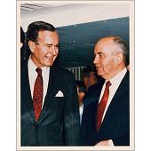 view George Bush and Mikhail Gorbachev digital asset number 1