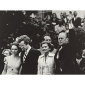 view Gerald and Betty Ford (with David and Julie Eisenhower) digital asset number 1