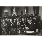 view LBJ - President Signs Civil Rights Bill digital asset number 1