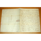 view Letter from John Vaughan to Jeremiah W. Bronaugh concerning 1817 James Monroe peace medals digital asset number 1